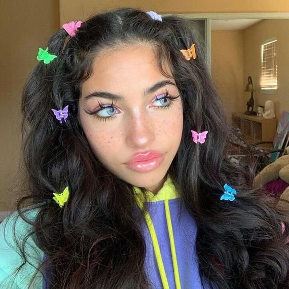 10pcs Colorful Mini Gripper Ins Butterfly Clips Cosmetic Clip Triangular Gripper Korean Trendy B In 2020 Aesthetic Hair Hair Clips Girls Makeup
