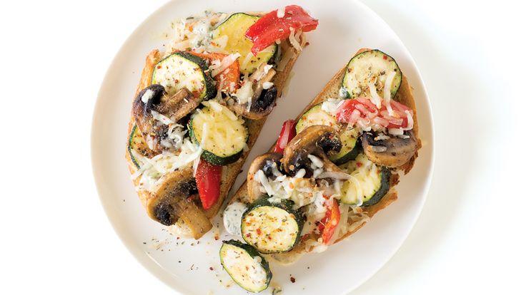 Roasted Vegetable Tartine