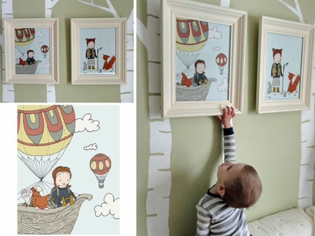 Nursery wall art - such fun, whimsical prints (customizable, too!) from Sweet Melody Designs! #nursery #wallart @Carrie Tomaschko: Hot Air Balloon, Sweet Melody, Kids Bedroom, Nursery Wallart, Nursery Decor, Nursery Ideas, Project Nursery, Boy Room