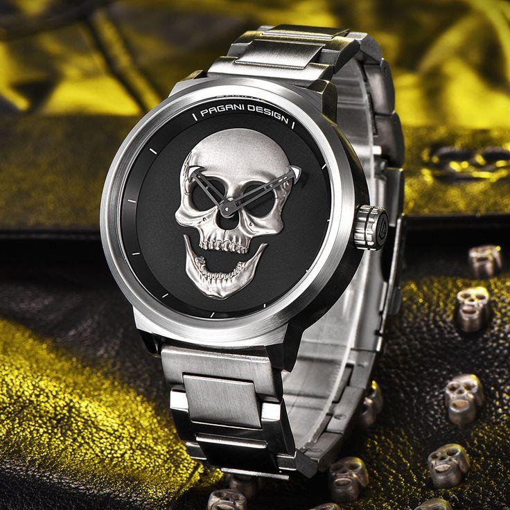 ==> [Free Shipping] Buy Best PAGANI DESIGN Mens Watch fashion Luxury Brand Clock Male Casual Sport Wristwatch Men Pirate Skull Style Quartz Watch Reloj Hombe Online with LOWEST Price | 32817340997