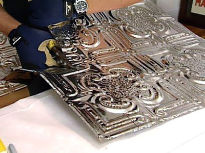 How to Install a Tin Tile Backsplash : How-To : DIY Network