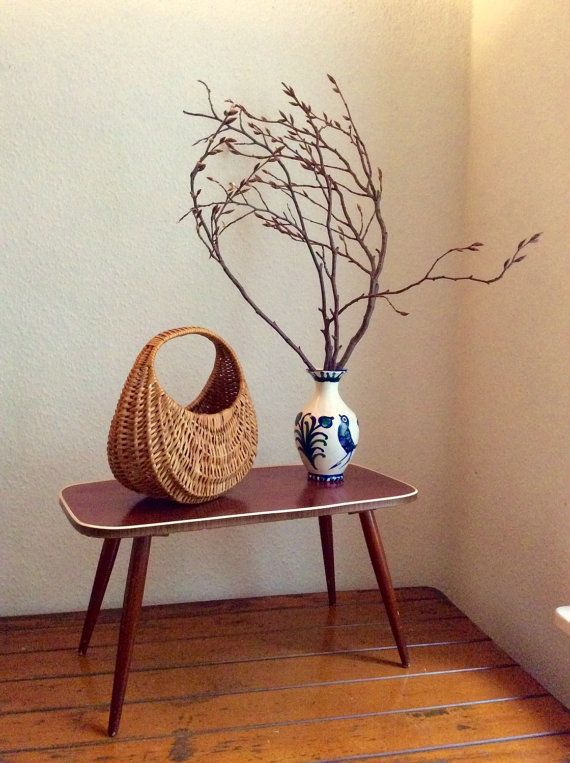 Mid century modern Vintage kidney table Plant Stand by Berlinattic