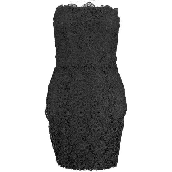 Boohoo Petite Emily Bandeau Crochet Bodycon Dress | Boohoo ($46) ❤ liked on Polyvore featuring dresses, body conscious dress, crochet bodycon dress, crochet dress, macrame dress and petite bodycon dresses