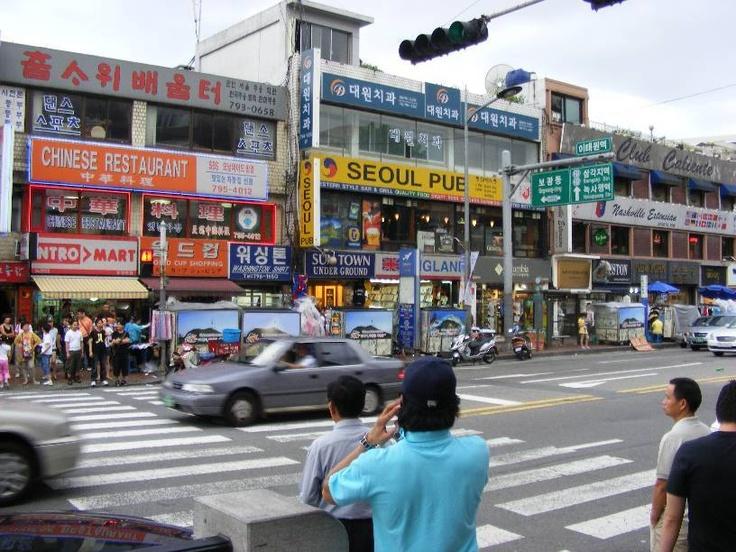 Itaewon, Seoul. I lived very near here.