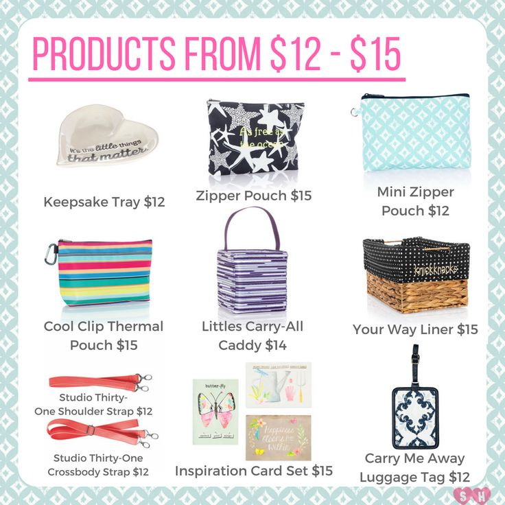 You can shop Thirty-One even when you're on a budget...check out these amazing products at amazing prices!