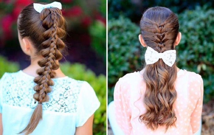 Причёски на выпускной в детский сад на средние и длинные волосы