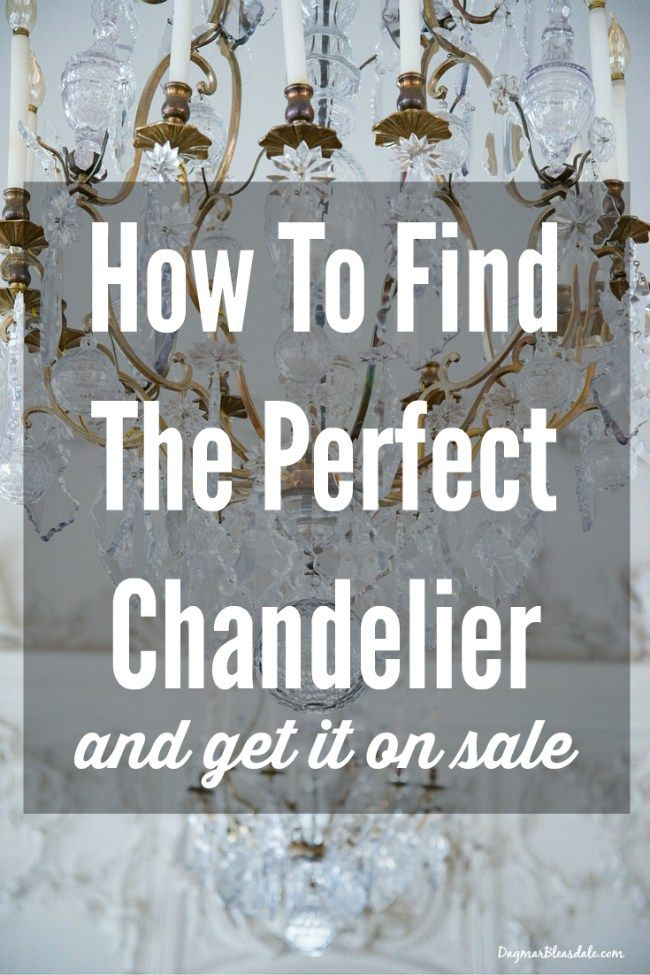 I finally found my perfect  chandelier - and I'll tell you how I got it on sale! Dagmar's Home, DagmarBleasdale.com #chandelier #lamp #frugal #thrifty #shopping