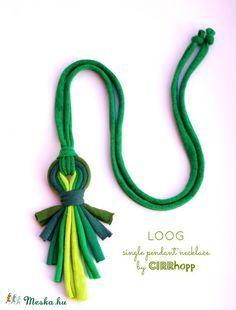 LOOG - X - medálos textilnyaklánc zöld S/S2015 (cirrhopp) - Meska.hu
