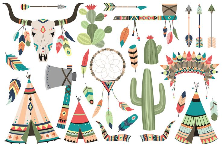 121 pc Tribal Vector Clipart Bundle by Kenna Sato Designs on @creativemarket