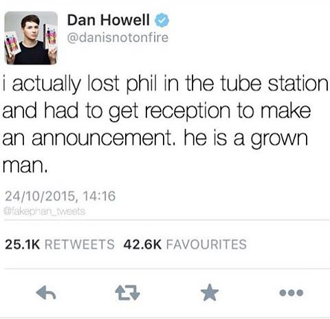Is he Dan ? Is Phil really a grown man ? Are either of you grown men ? I think both of y'all are just giant toddlers