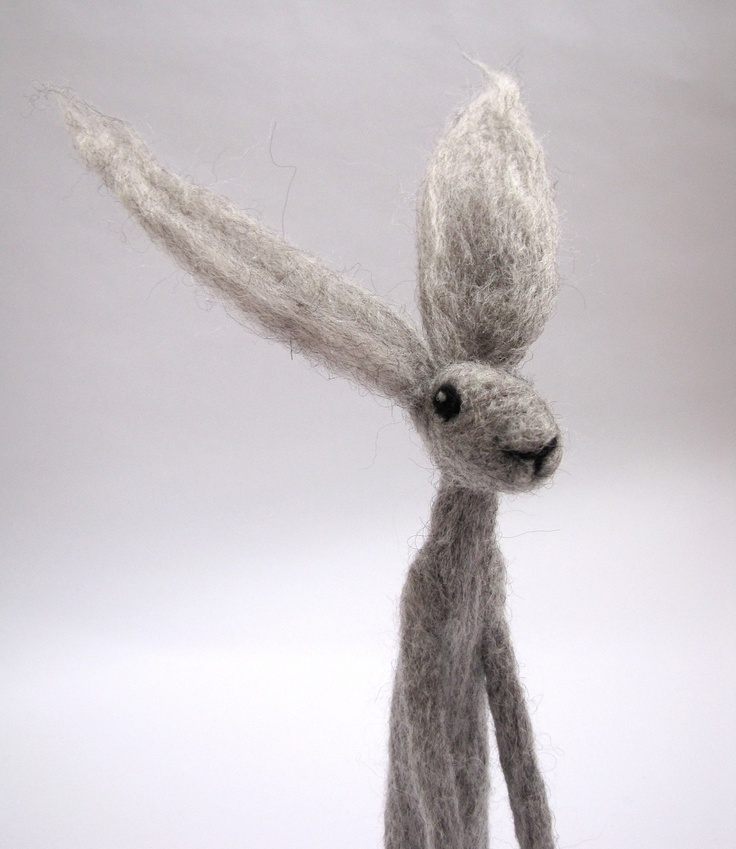 Needle Felted Hare by Stephanie Carswell www.stephaniecarswell.co.uk