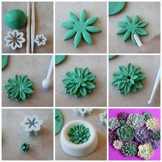 Easy Succulent flower tutorial
