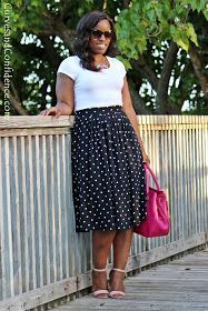 Curves and Confidence | A Miami Style Blogger: Skirts and Tee Shirts