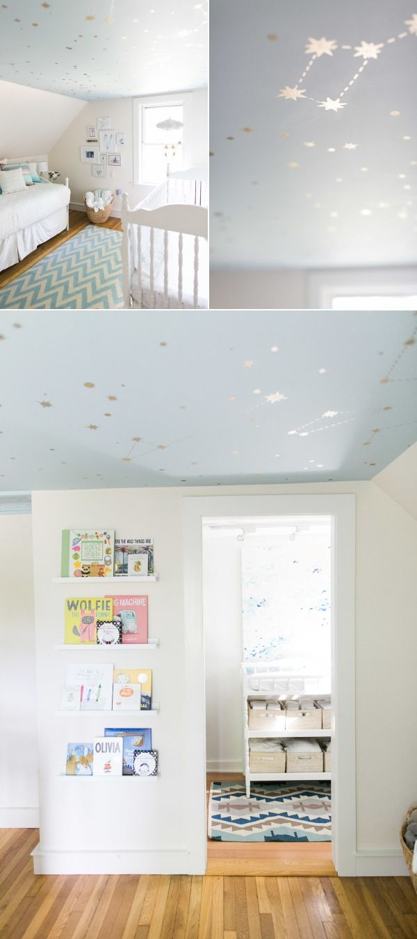 DIY Starry Ceiling - Style Me Pretty Living