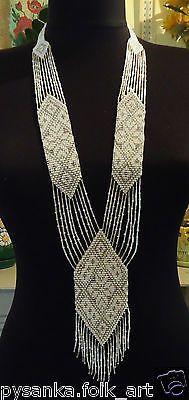 Ukrainian Handmade Jewelry Beaded Necklace Gerdan | eBay