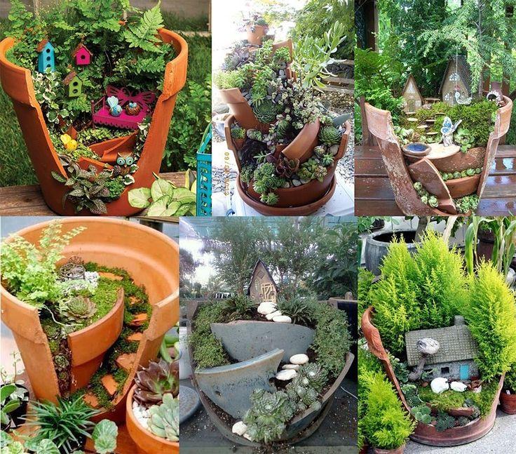 Incredible Broken Pot Ideas Recycle Your Garden: Mini Gardens, Gardens