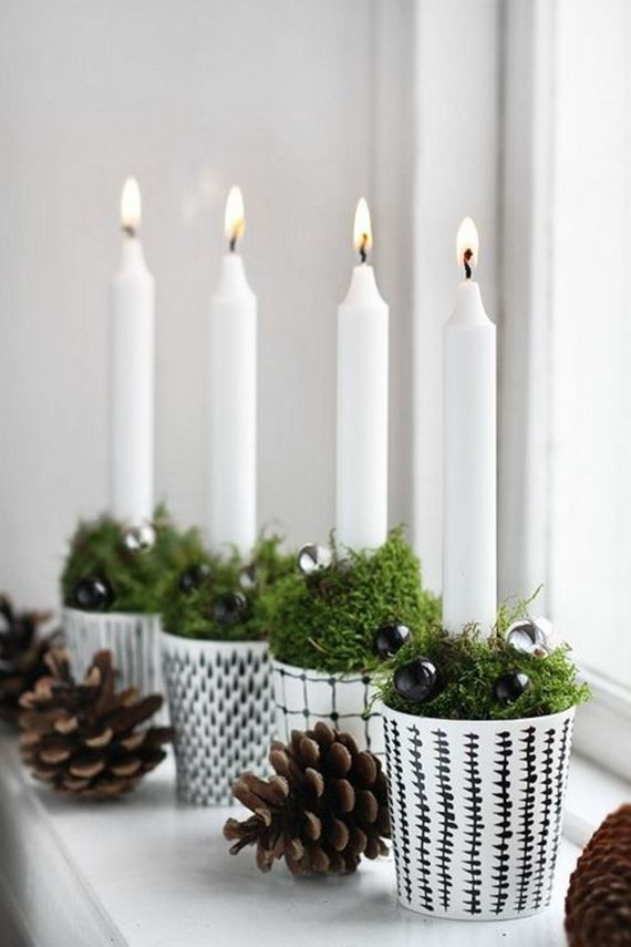 candles // scandinavian christmas decor
