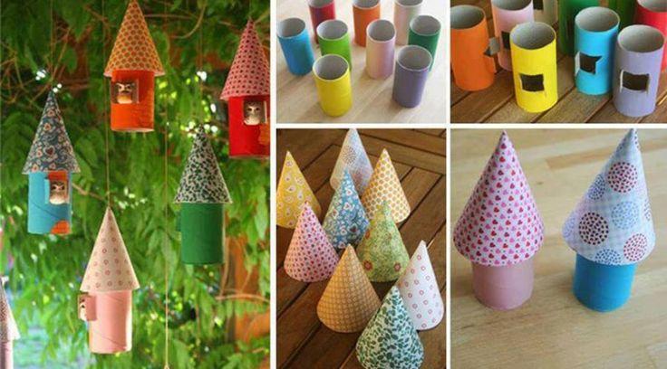 Little Tree Ornament Birdhouses