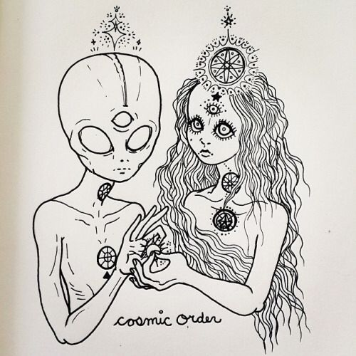 Cosmic Ordering Secrets - cosmic order, aliens, tumblr, drawing, third eye, chakras, beleive 3 Steps To Living A Life Full Of Abundance