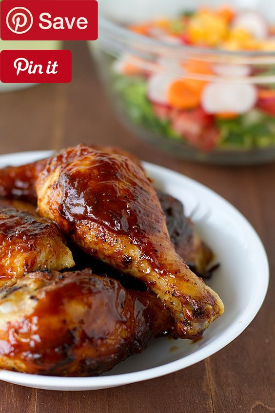 Oven-Baked BBQ Chicken #recipe (easily one of the best chicken recipes Ive ever made)