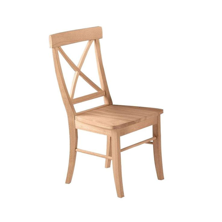 International Concepts X Back Unfinished Solid Wood Dining Chairs (set Of  2) C