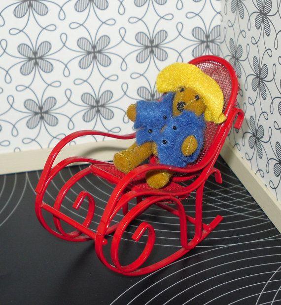 Miniature Red Rocking Chair ~ Best dollshouses images on pinterest diy dollhouse