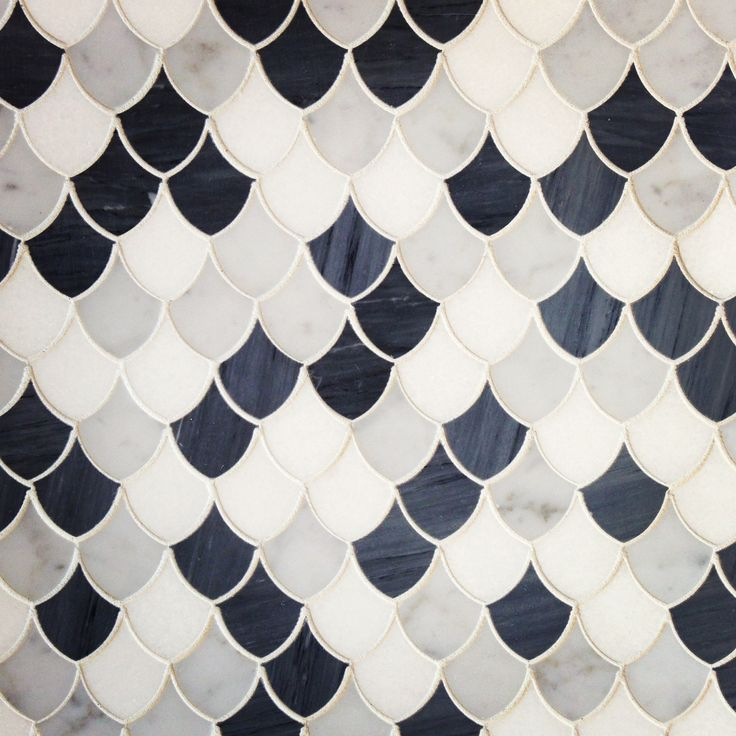 marble scalloped tiles.