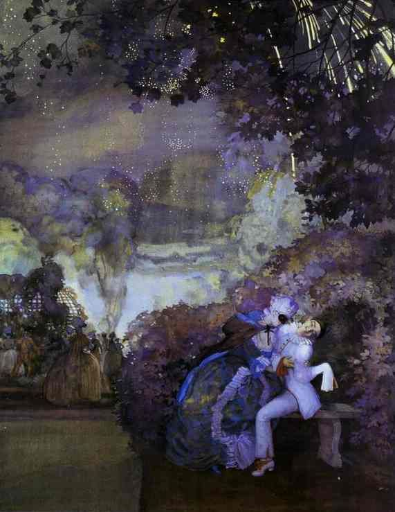 Konstantin Somov--Lady and Pierrot, 1910. - Pierrot - Wikipedia, the free encyclopedia
