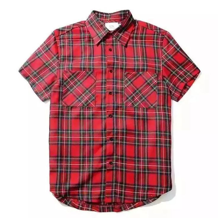 Kanye Red Flannel Top //Price: $54.95 & FREE Shipping