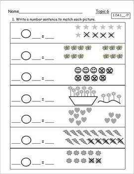 Envision math common core grade 1 worksheets
