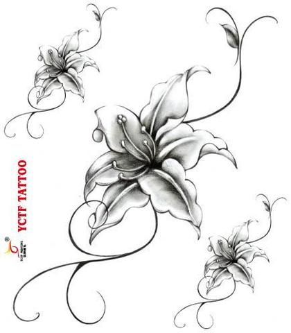 1000 ideas about flower ankle tattoos on pinterest ankle tattoo purple rose tattoos and - Fleur tatouage dessin ...