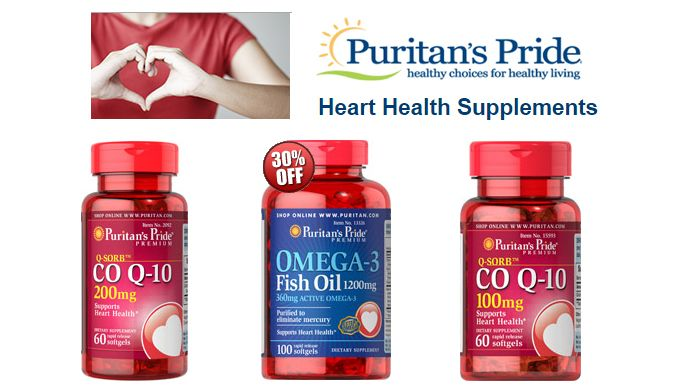 puritan's pride coupon on heart health supplements, puritan's pride is always has being success in taking care health by furnishing best healthy and strong supplements moreover minerals, proteins and vitamins. Besides the online puritan's pride shopping online store is an expert in granting long lengthy discounts online and affluent savings with puritan's pride coupon on heart health supplements. These heart supplements comprehend garlic, fish oil, policosanol Co Q – 10 and may more…