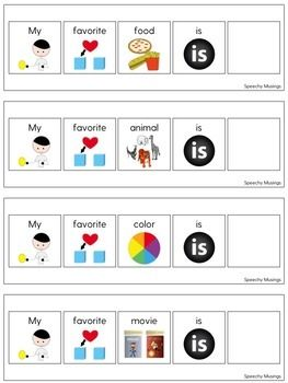 Sentence Strips with Visuals