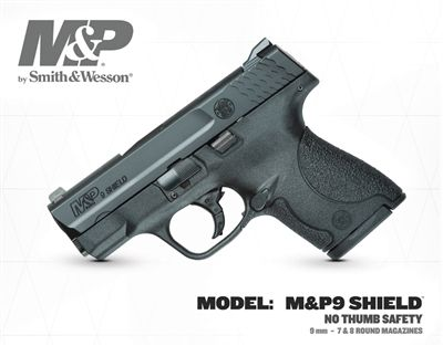 Smith & Wesson S&W Shield 9mm NO SAFETY Deal of the Day Price: $339.99