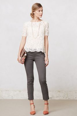 Anthropologie Elysian Lace Top