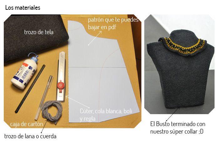 Tutorial DIY para hacer un busto expositor para joyas. http://idoproyect.com/blog/el-diy-de-la-semana-busto-para-joyas/
