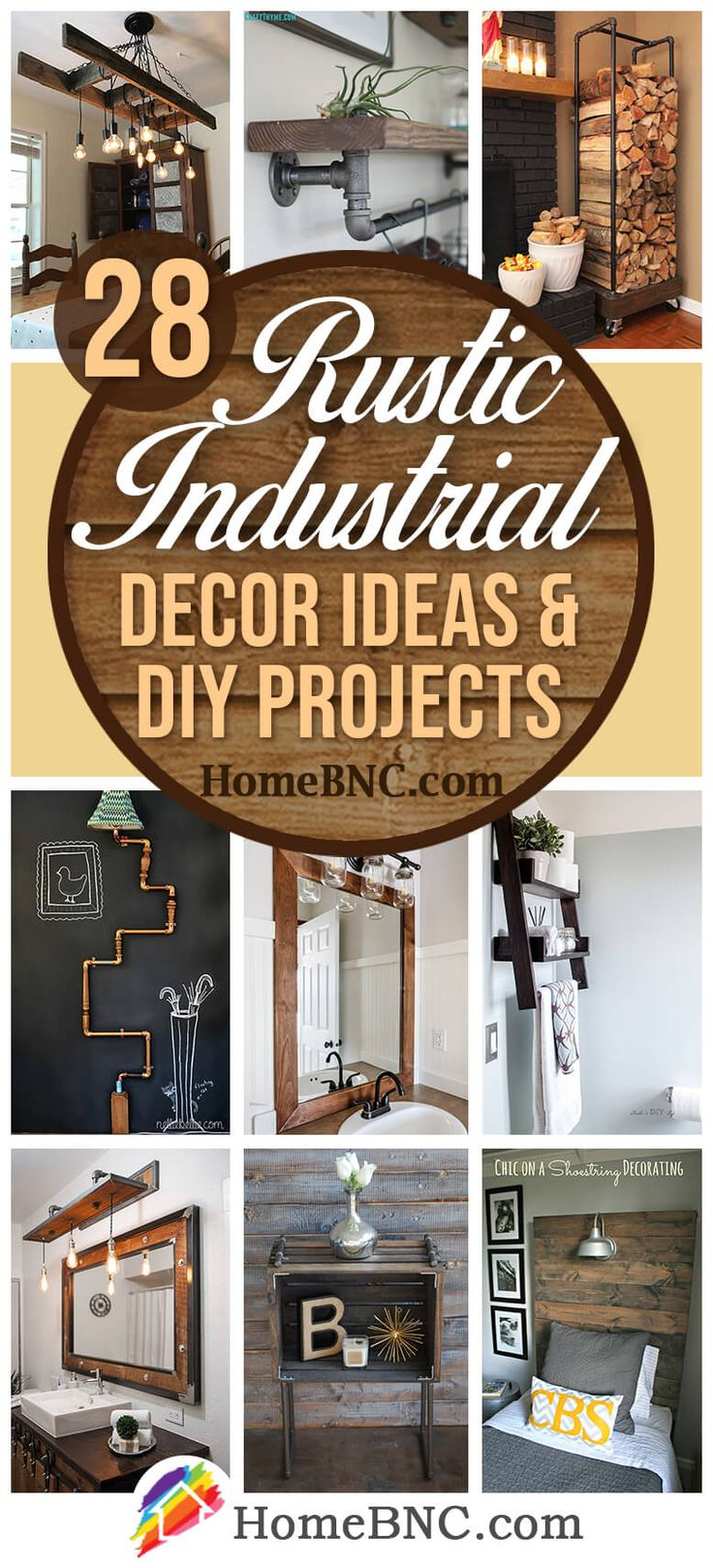 28 Best DIY Rustic Industrial Decor Ideas and Designs for
