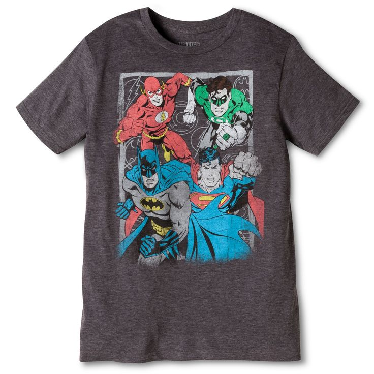 <p>Give a high-five to the Superhero team that began in comic books in 1960 in this Men's Justice League T-Shirt. It's a throwback to Superman, Batman, Wonder Woman, and more. The tee has comfortable set-in sleeves, and best of all, it's made of 100% cotton that breathes. It can be machine washed in cold water and tumble dried.</p>
