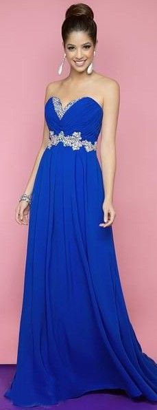 Electric blue evening dresses