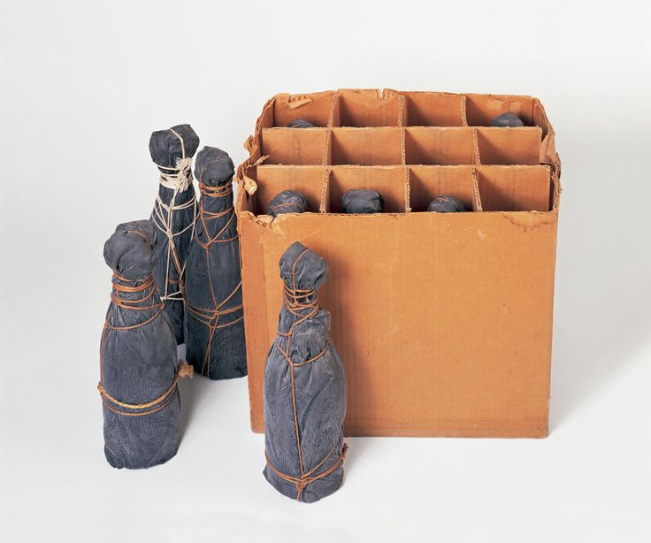 Wrapped Champagne Bottles
