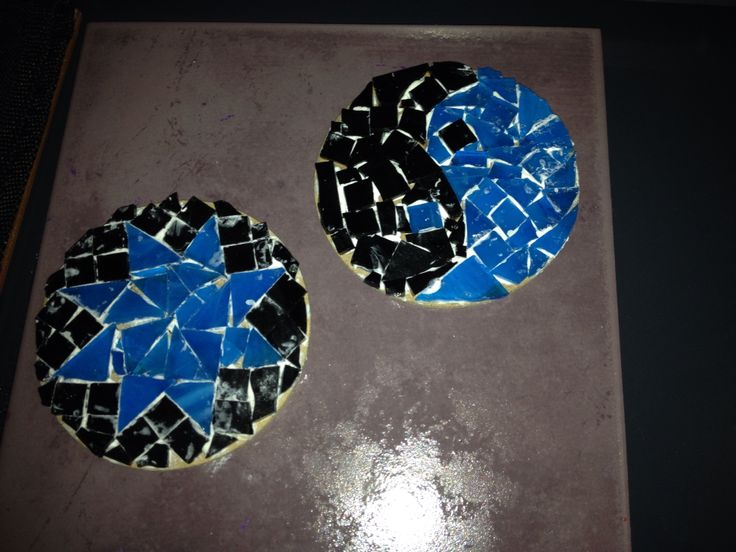 Mosaic plate to stand my pillar candles on