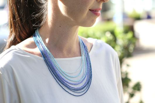 For the Love of (doing it yourself) Ombre Seed Bead Necklace