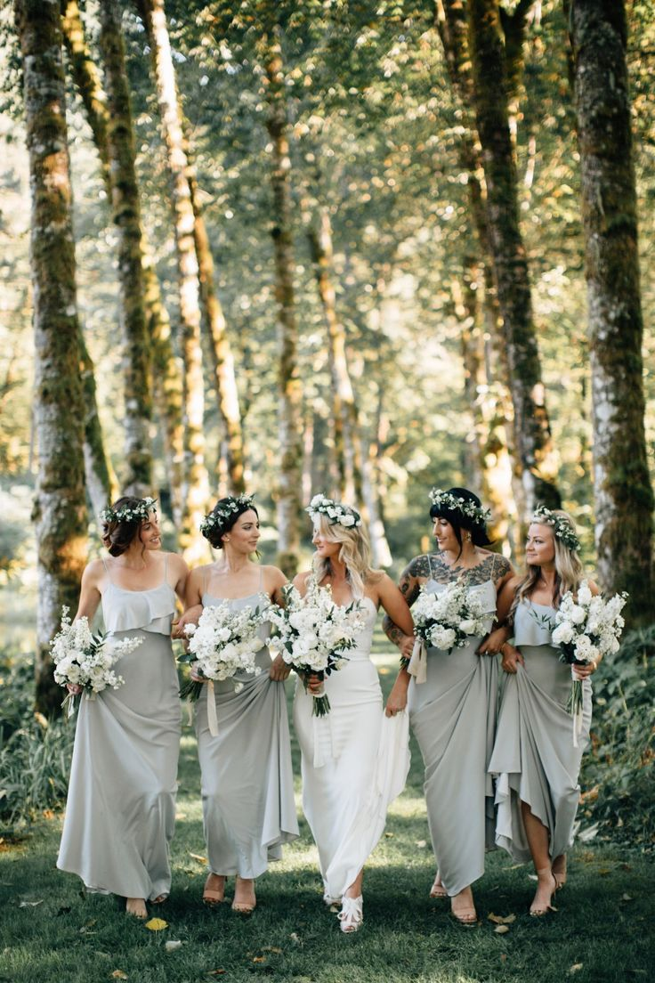 Best 25 romantic bridesmaid dresses ideas on pinterest this gorgeous forest wedding in oregon features some breathtaking details from the romantic canoe ride ombrellifo Images