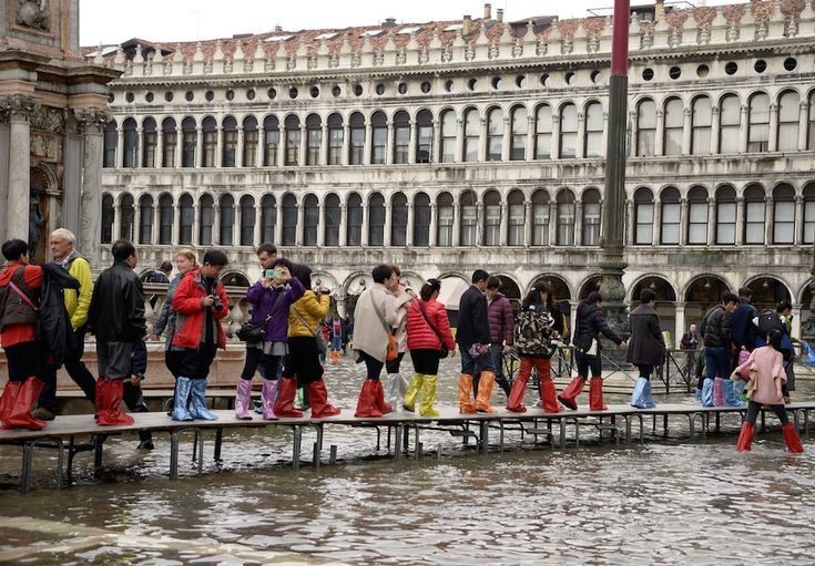 Aqua alta a Venezia.