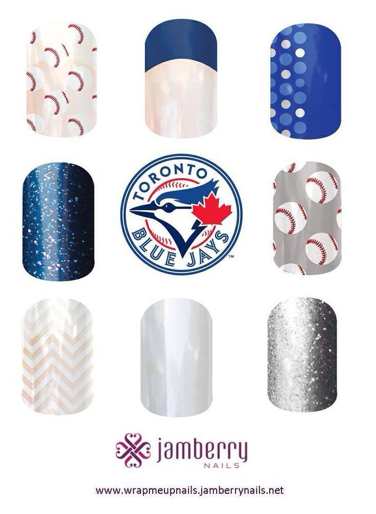 Toronto Blue Jays manicure - nails Nail art - Jamberry - manicure - nail design Http://shawnaketcheson.jamberrynails.net