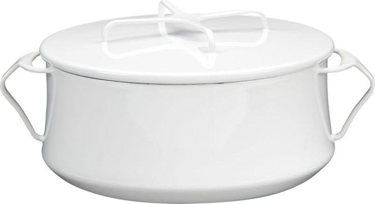 Dansk® Kobenstyle White 4-Quart Casserole   Crate and Barrel