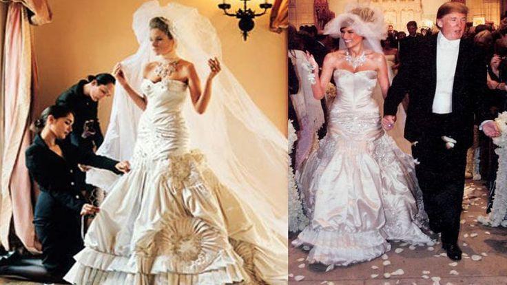 Melania Trump Wedding Was Extravagant : A Gown Made by John Galliano