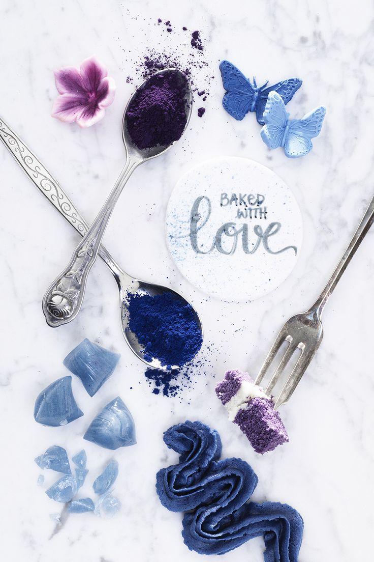 www.pandurohobby.com #brushlettering #paint #blue #blå #sugarpaste #cake #decoration #diy #panduro