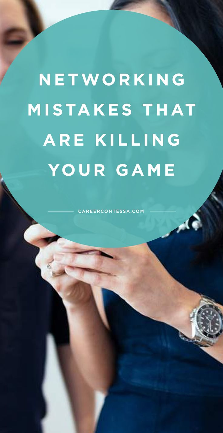 There's a not-so-secret secret to job hunting that a lot of people like to ignore: when it comes to your career, who you know can be more important than what you know when you're trying to land the position of your dreams. That's why we're sharing the top networking mistakes that are killing your game on CareerContessa.com