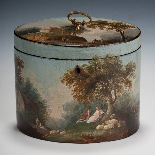 Henry Clay Tea Caddy : VERY RARE HENRY CLAY PAPIER MACHE TEA CADDY     British Antique Dealers' Association